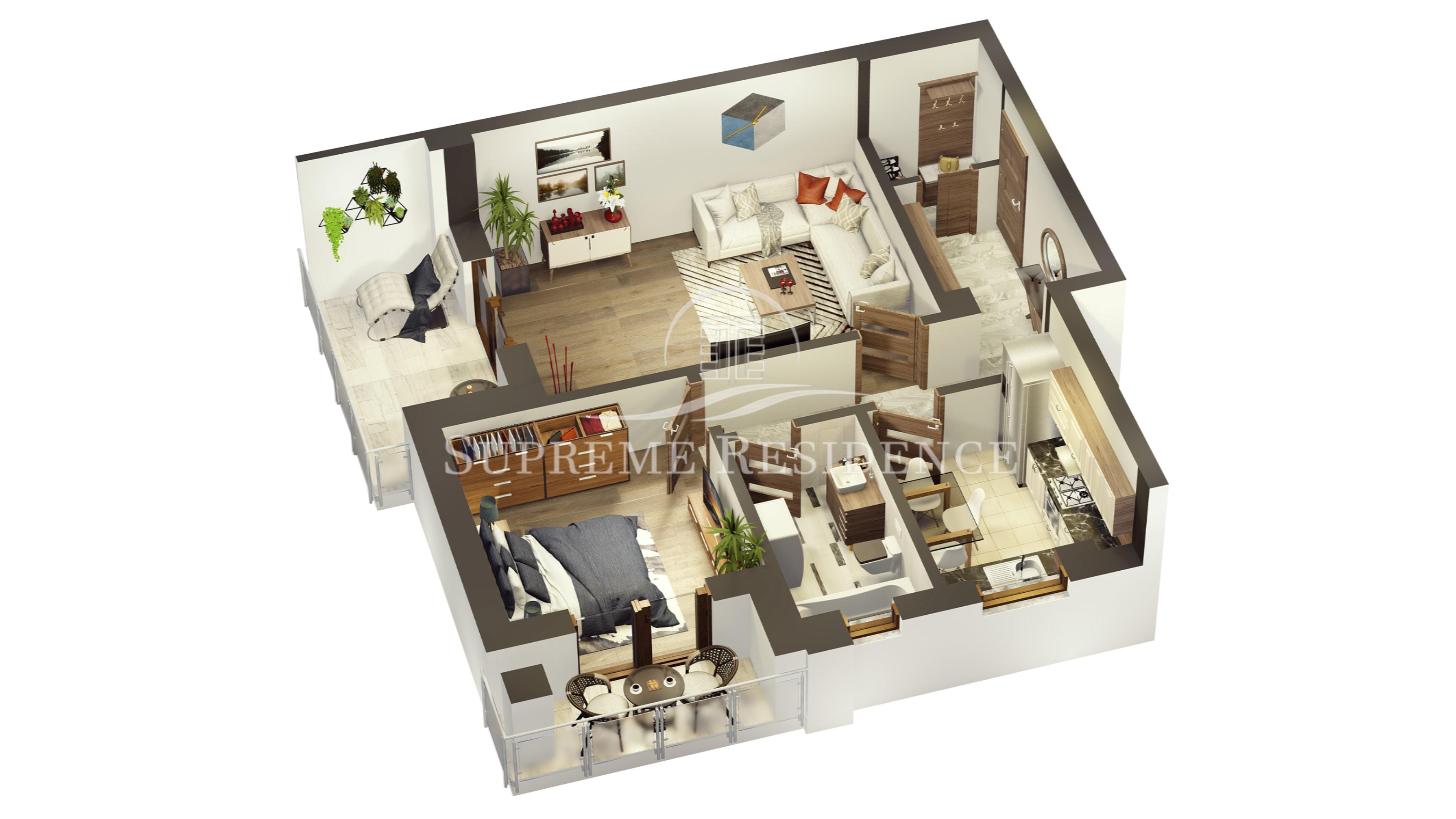 NOU! Apartament 2 camere 62 mp Hipodrom II