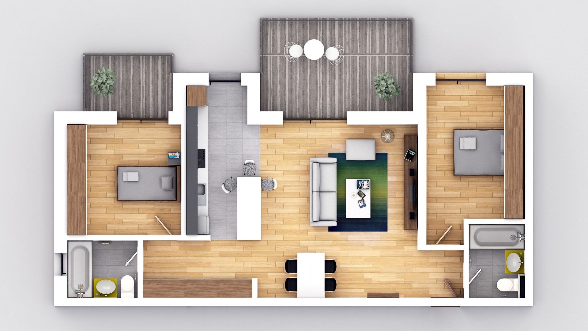 PREMIUM! Apartament 3 camere + gradina zona Brana